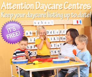 Daycare Centres can update their daycare information for free!
